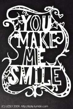 You make me smile by ~lizzAy on deviantART