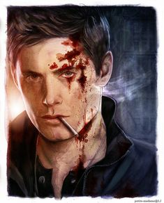 I love seeing people getting Dean's face right.  Dean Winchester - In Blood by Petite-Madame.deviantart.com on @deviantART