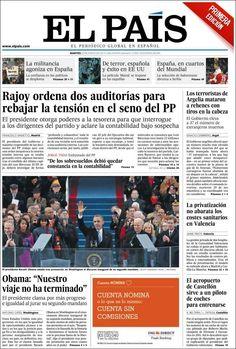 Los Titulares y Portadas de Noticias Destacadas Españolas del 22 de Enero de 2013 del Diario El País ¿Que le parecio esta Portada de este Diario Español?