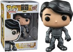 The Walking Dead - Glenn in Riot Gear Pop! Vinyl Figure The unstoppable Glenn Rhee in riot gear will bust through all you walker pops!