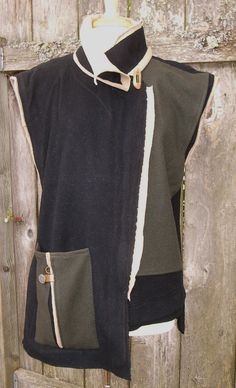 Diane Ericson's 'heartfelt coat' pattern made in a vest variation.