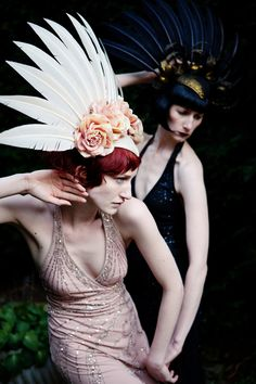 Photography by Jo Thorne. That headpiece is to die for.