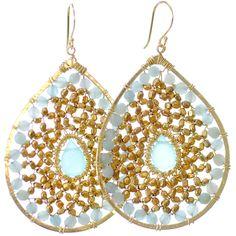 Amazonite Teardrop Earrings
