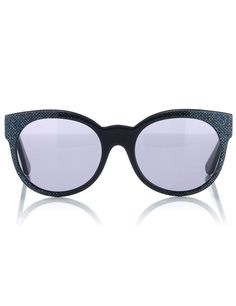 Blue Sparkle Cat Eye Sunglasses | Cutler and Gross | Avenue32