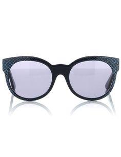 Blue Sparkle Cat Eye Sunglasses | Cutler and Gross | Avenue32