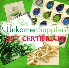 30% Off SALE - Gift CERTIFICATE for UnkamenSupplies - Pay just $17.50 for a $ 25.00 Certificate!  - Great Gift for the Creative Jewelry Maker, via Etsy.