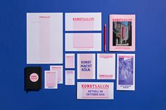 "Brand Identity for KunstSalon Köln by Formdusche  ""KunstSalon is a private initiative to promote arts and culture. The uniqueness of KS is its interdisciplinary focus: visual arts, drama, literature, music, dance and film.""  Formdusche is a design..."