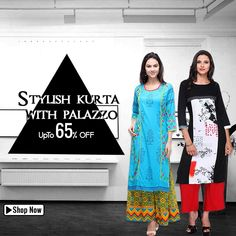 Summer collection of stylish kurta with palazzo at fingoshop. Extra off on online payment. Get your products delivered fast. Party Wear For Women, Women Wear, Fast Fashion, Womens Fashion, Kurta Palazzo, Online Shopping For Women, Ethnic Fashion, Designer Wear, Summer Collection