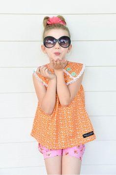 Mae Swing Top - Zesty Orange