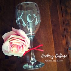 Pyrography Engraving & Digital Hand-Lettering & Design by RockeryCottage Personalized Wine Glasses, Personalized Gifts, Lettering Design, Hand Lettering, Wine Gifts, Pyrography, Hand Engraving, Couple Gifts, Glass Art
