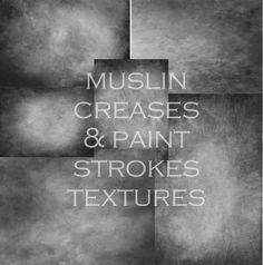Image of Muslin Creases & Paint Strokes Textures