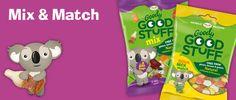 De producten van Goody Good Stuff zijn lactose- gluten- en gelatinevrij dus zeer geschikt voor mensen met voedselallergieën of met een vegetarisch/veganistisch dieet. Mix Match, Goodies, Gluten, Family Guy, Bags, Character, Sweet Like Candy, Handbags, Gummi Candy