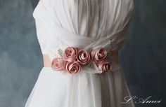 Romantic Handmade Blush pink slik Chiffon Flower Wedding by LAmei
