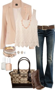 """Peaches and Cream"" by zayabibu on Polyvore"