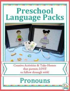 Pronouns Speech Therapy Activities for Kids! Bright and engaging games teach the use of early concepts. Teaching Pronouns, Pronoun Activities, Teaching Vocabulary, Speech Therapy Activities, Language Activities, Fun Activities For Kids, Preschool Speech Therapy, Speech Language Therapy, Speech And Language