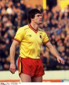 Former Watford captain Pat Rice has been admitted to hospital with cancer. Football Kits, Football Players, Watford Fc, Cancer, Polo Ralph Lauren, Rice, Shorts, Boys, Mens Tops