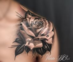 rose tattoo black and white More