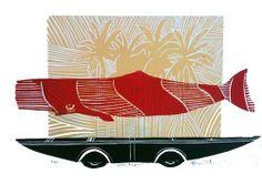 whale paopao Woodblock print (edition of x Nz Art, Year 7, Woodblock Print, Marine Life, Art Boards, Printmaking, Whale, Fish, Artists