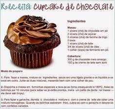 Gy Farias: Cupcakes de chocolate