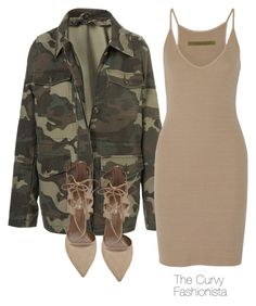 """""""Untitled #613"""" by thecurvyfashionista ❤ liked on Polyvore featuring Topshop, Enza Costa and Aquazzura"""