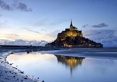 Mont Saint-Michel, a rocky tidal island and a commune in Normandy, France