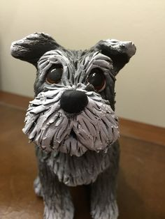 Clay-9 A Custom made Clay Sculpted Statue / Figurine from your photos, Dog Sculpture, Schnauzer Sculpture by clay9s on Etsy https://www.etsy.com/listing/268707576/clay-9-a-custom-made-clay-sculpted