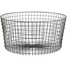 CB2 Gridlock Large Raw Industrial Basket ($70) ❤ liked on Polyvore featuring home, home decor, small item storage, baskets, decor, fillers, interior, handmade home decor, industrial home decor and peach basket