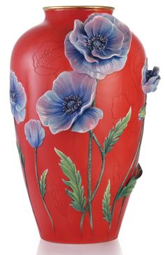 FZ03362 Franz Porcelain Charm Poppy Design Sculptured Vase Limited Edition NEW | eBay