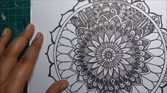 How to draw a Mandala (Step by Step Process)