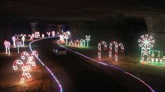 Celebrate Christmas underground on a 30-minute drive along the 17-mile lighted pathway deep under the Earth at Louisville MEGA Cavern.