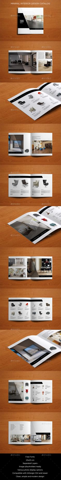 Minimal Interior Design Catalog — InDesign INDD #white #business • Available here → https://graphicriver.net/item/minimal-interior-design-catalog/9849569?ref=pxcr