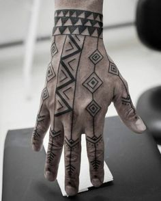 maori hand tattoo for men ~ maori hand tattoo for men & tattoo maori men hand & full hand maori tattoo men & maori tattoo designs men hand Tattoos For Guys Badass, Hand Tattoos For Guys, Boy Tattoos, Finger Tattoos, Body Art Tattoos, Sleeve Tattoos, Neck Tattoos, Man Hand Tattoo, Full Hand Tattoo