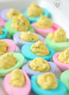 Deviled eggs are a classic party food. For a special festive twist, we made Colored Deviled Eggs and they are so beautiful! A very easy, special touch for Easter and fun to do for baby. The post Colored Deviled Eggs appeared first on Smart School House. Colored Deviled Eggs, Easter Deviled Eggs, Thanksgiving Deviled Eggs, Colored Eggs, Easter Recipes, Egg Recipes, Mexican Food Recipes, Appetizer Recipes, Easter Appetizers