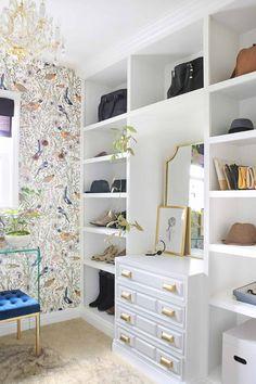 Small Master Closet, Master Closet Design, Master Bedroom Closet, Bathroom Closet, Master Closet Layout, Wardrobe Design, Closet Wallpaper, Closet Remodel, Remodel Bathroom