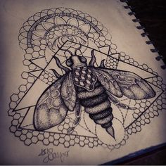 Cute little geometric bee design I've been working on :3 #bee #geometricbee…