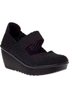 Bernie Mev Lulia Wedge Sneaker Black Fabric - Jildor Shoes, Since 1949