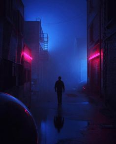 Alone in the dark uburban back streets neon led colors amazing retrowave cyberpunk synthwave Cyberpunk City, Arte Cyberpunk, Cyberpunk Aesthetic, Urban Aesthetic, Night Aesthetic, Purple Aesthetic, Night Photography, Street Photography, Neon Noir