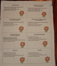 Saundra of Woodland Junction: Search results for making rug labels