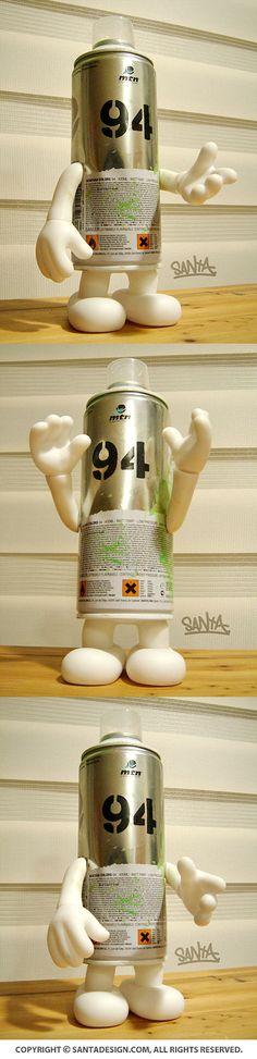 #Recycle #Toy #MTN94 #Graffiti #Spray #Brick / 2013