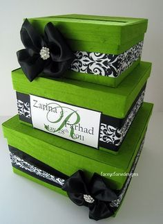 Black white and green wedding on Pinterest | Green Apple Wedding, Gre…