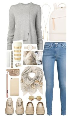 A fashion look from September 2015 featuring crew neck shirts, 7 for all mankind jeans and flats sneakers. Browse and shop related looks. Jeans And Flats, Back To School Outfits, Crew Neck Shirt, Olivia Burton, Proenza Schouler, Charlotte Russe, River Island, Kate Spade, Fashion Looks