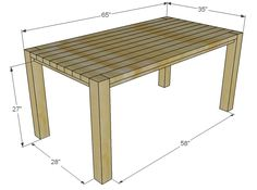 Ana White | Build a Big Ur Farm Table and Bench | Free and Easy DIY Project and Furniture Plans