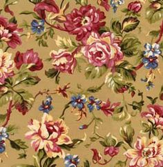 Large Floral in Tan