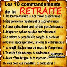Les 10 commandements de la retraite
