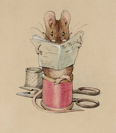 Helen Beatrix Potter, 'Frontispiece: The Tailor Mouse' c.1902