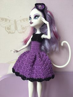 Monster High Puppe Kleid und Haarband von DianaWeddingBoutique