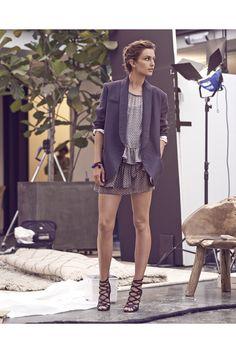 Isabel Marant Crucero 2014. Minidress + blazer