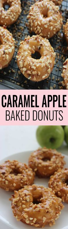 Caramel Apple Baked Donuts! The perfect dessert!