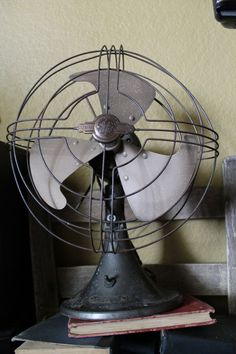 Vintage 1940's Art Deco Industrial General Electric Vortalex Fan