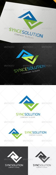 Synce Solution Logo  #GraphicRiver         This logo design for all creative business. Consulting, Excellent logo,simple and unique concept.  Logo Template Features   AI and EPS (Illustrator 10 EPS) 300PPI  CMYK  100% Scalable Vector Files  Easy to edit color / text  Ready to print  Font information at the help file    If you buy and like this logo, please remember to rate it. Thanks!     Created: 19October13 GraphicsFilesIncluded: VectorEPS #AIIllustrator Layered: No…